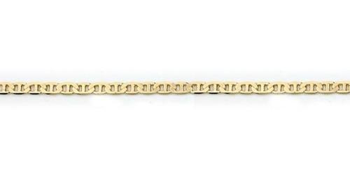 pulseira rommanel masculina banhada ouro elo oval pino 23 cm