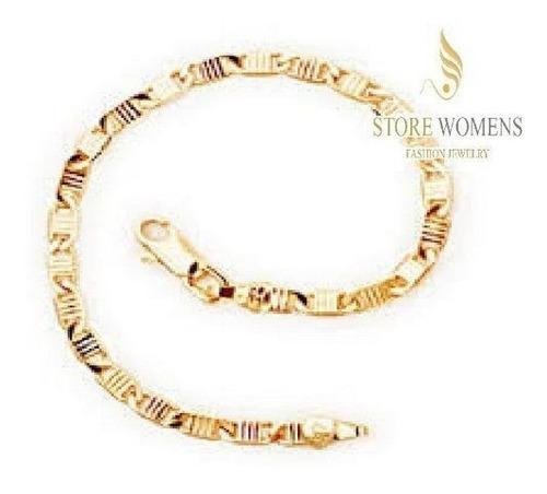pulseira rommanel masculina fio grumet elo longo 550570