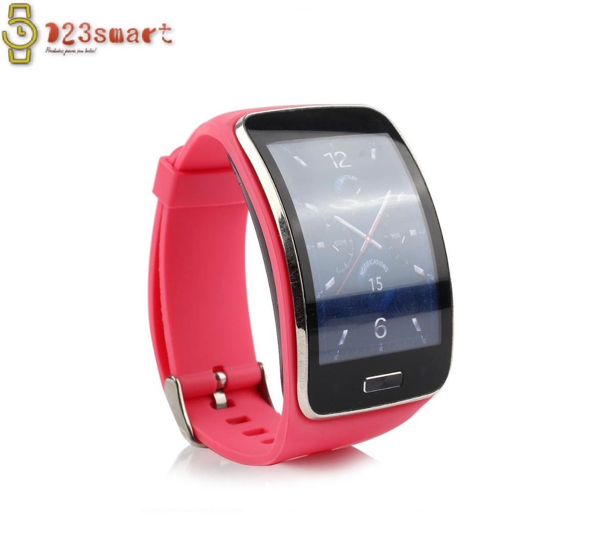 6f2642a119c pulseira rosa para relógio smartwatch samsung gear s r750. Carregando zoom.