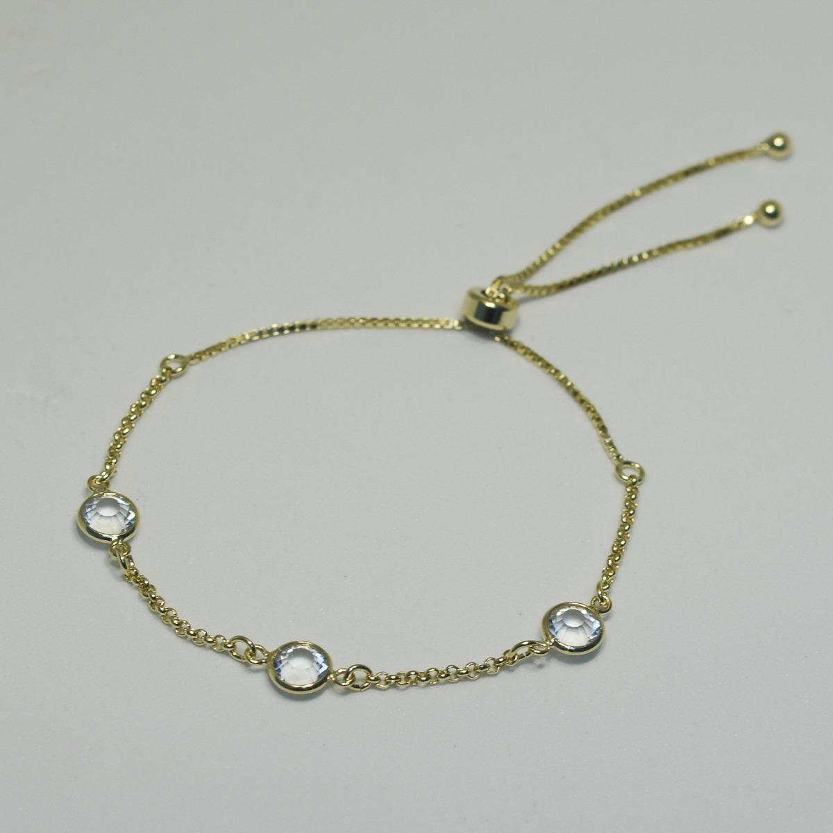 bc99434ae92 Pulseira Shambala Com Cristal Banho Ródio Branco Ouro 18k - R  52