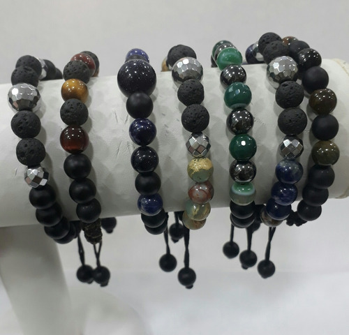 pulseira shamballa pedras naturais