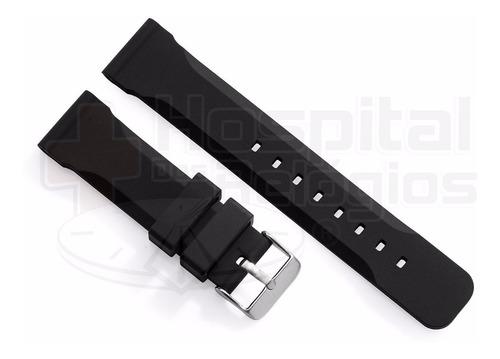 pulseira silicone 22mm borracha macia lisa para relógio