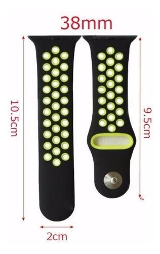 pulseira silicone estilo p nike apple watch 38/40mm preto fl