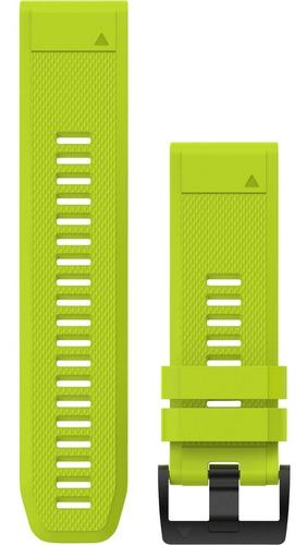 pulseira silicone garmin quickfit 26mm fenix 5x amarela