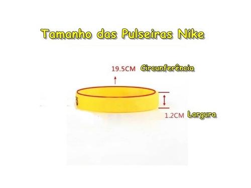 pulseira silicone nike dual color nba basketball - p entrega