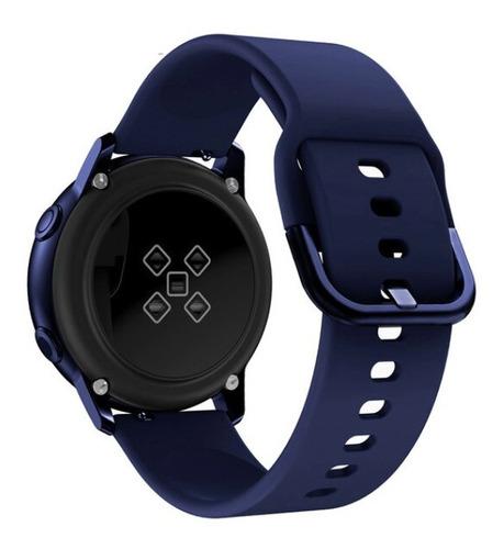 pulseira silicone p/ samsung galaxy watch active azul escuro
