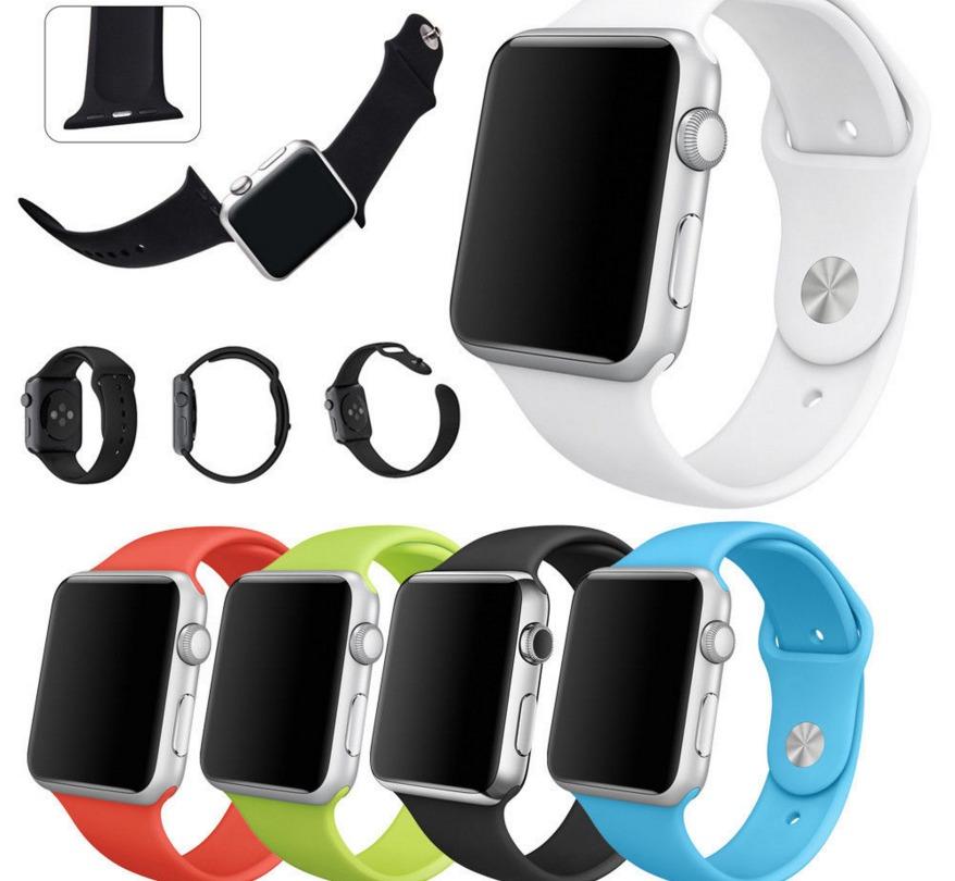 98238a450f1 pulseira silicone para apple watch 42mm sport várias cores. Carregando zoom.