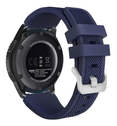 pulseira silicone para samsung gear s3 e galaxy watch 46mm