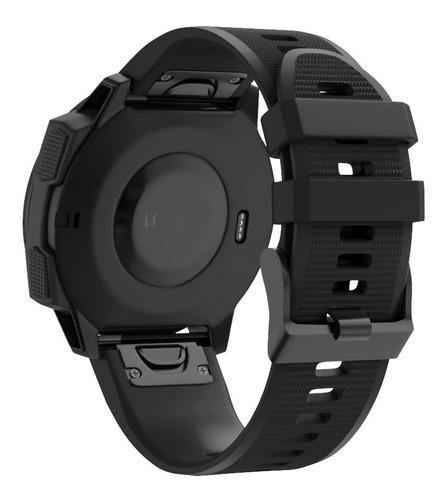 pulseira silicone preta para relógio garmin forerunner 935