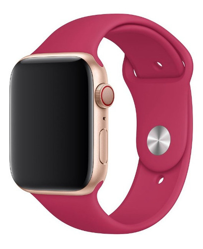 pulseira silicone sport p/ apple watch 42/44mm pomegranate