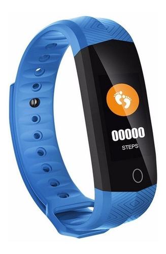 pulseira smart cd02 ? prova d'?gua tela lcd mon. freq. azul