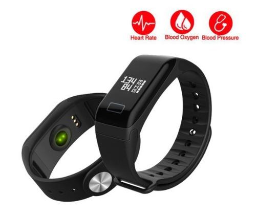 pulseira smartband f1 monitor cardíaco e pressão arterial