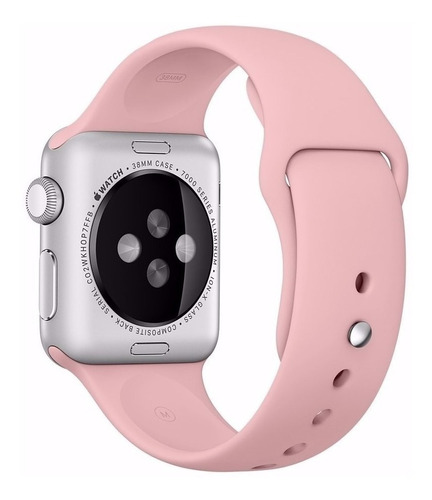 pulseira sport  apple watch 38mm 40mm rosa silicone oferta