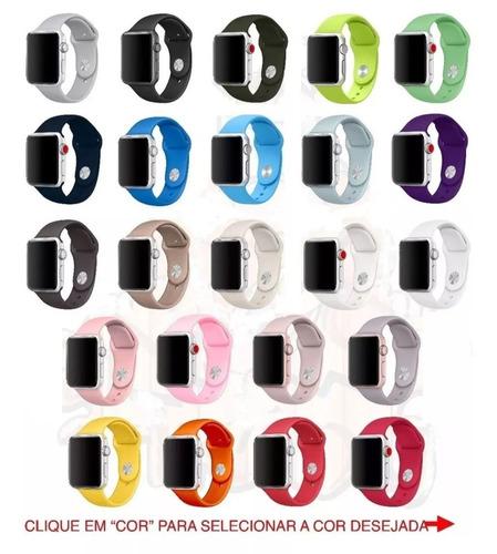 pulseira sport p apple watch 38mm 42mm diversas cores
