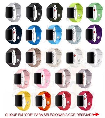 pulseira sport para apple watch 38mm 42mm 40mm 44mm branca
