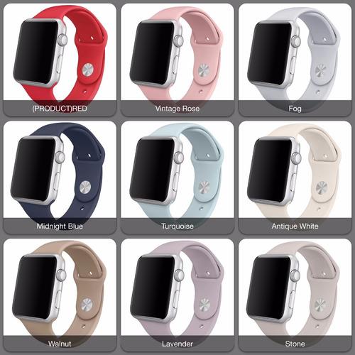 pulseira sport para apple watch 38mm 42mm diversas cores