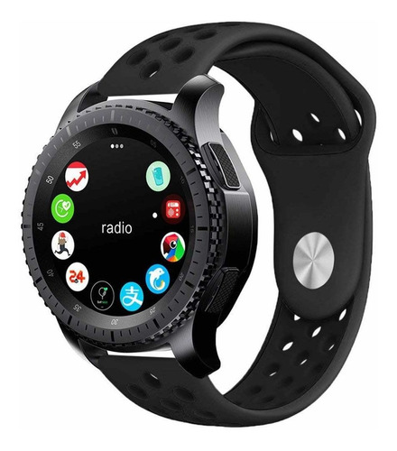 pulseira sport para samsung galaxy watch 46mm - gear s3