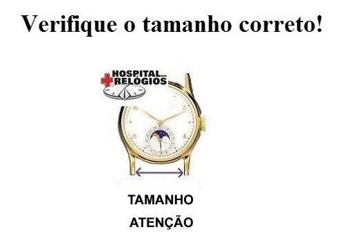 pulseira swatch 19mm ycs preta borracha irony classico