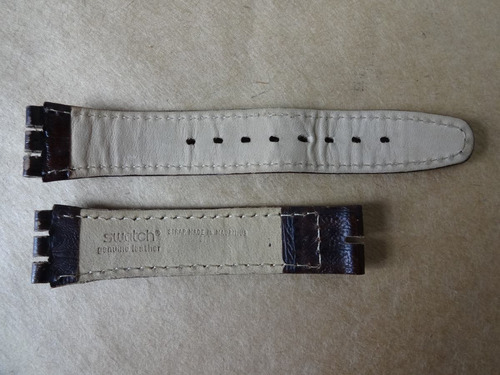 pulseira swatch 2 cm 100 % couro made in mauritius