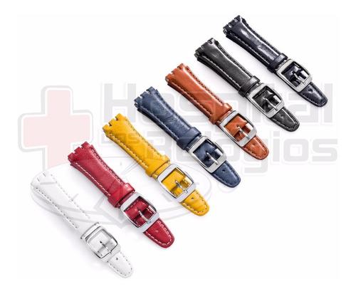 pulseira swatch couro coloridas alta qualidade * irony *