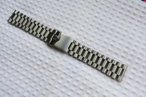 pulseira tag 22mm formula1 em aço  premium - nova