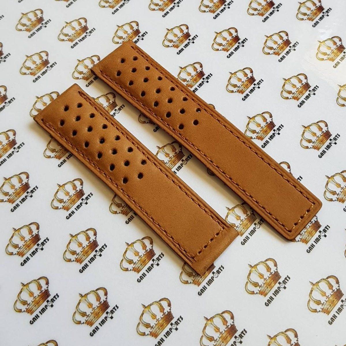 Pulseira Tag Heuer Space X Em Couro Marrom 22 20 M R 7900 Leather Carregando Zoom