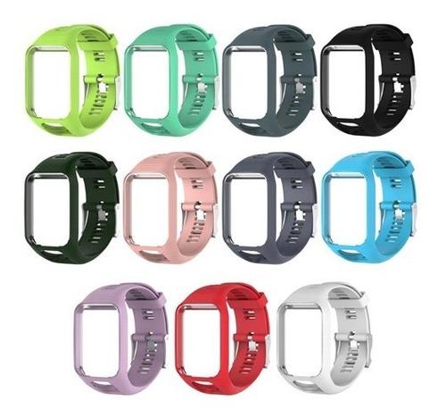 pulseira tomtom runner 2 3 spark gps silicone diversas cores
