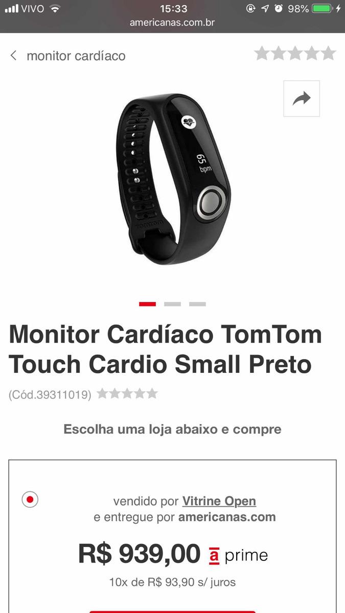 ab96cfe2fec pulseira tomtom touch fitness p. Carregando zoom.