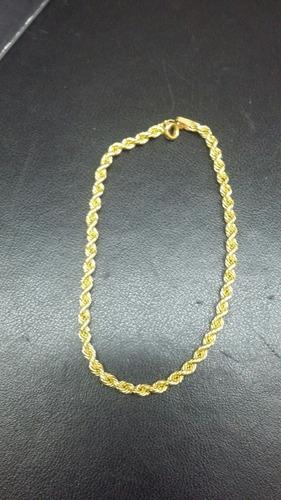 pulseira torcida em ouro amarelo 18k