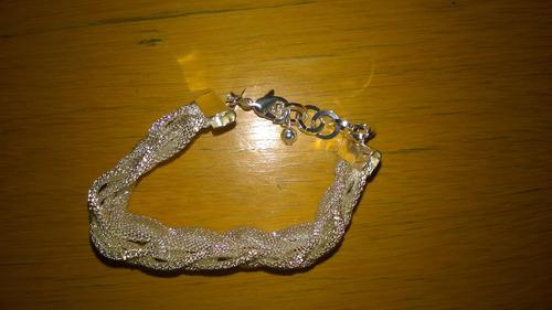 pulseira transada de prata