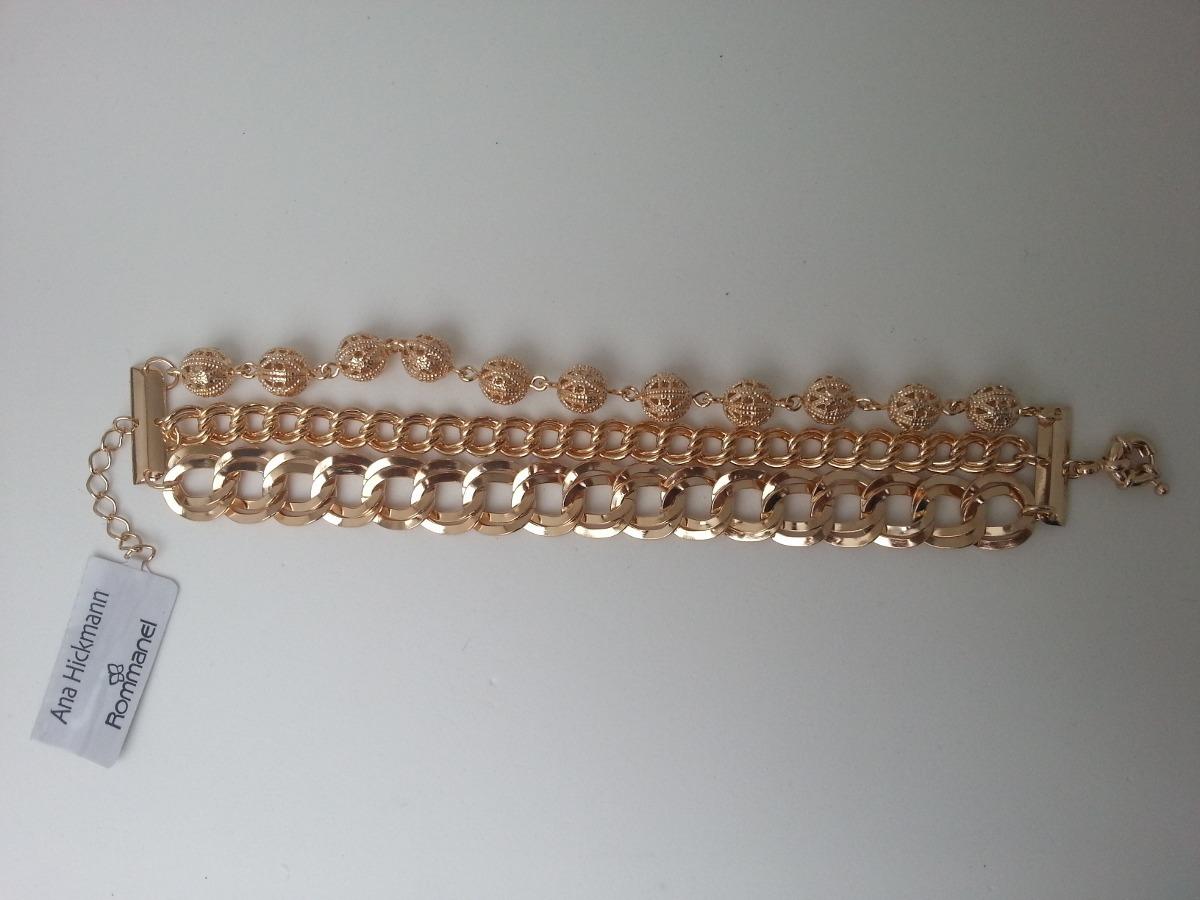 Pulseira Tripla Da Rommanel Ana Hickmann 550900-menor Preço - R  469,00 em  Mercado Livre 12fb171b37