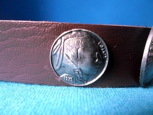 pulseira unissex couro hipster antigas moedas eua austrália