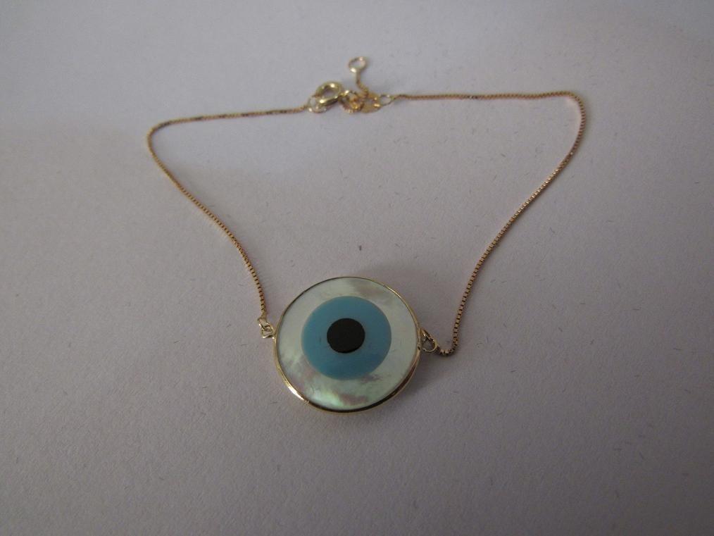 715c8c9f380fb pulseira veneziana adulto ouro 18k olho grego com garantia! Carregando zoom.