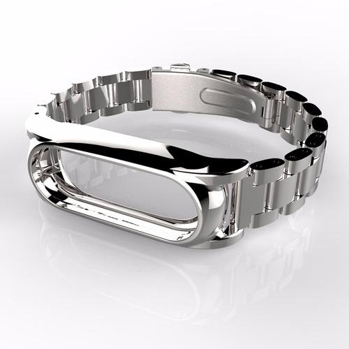 pulseira xiaomi mi band 2 aço inoxidavel + 2 peliculas