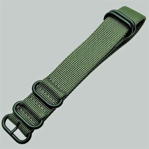 pulseira zulu nylon premium verde 24 mm pvd