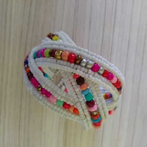 pulseira/bracelete de miçangas colorida ref: 9028