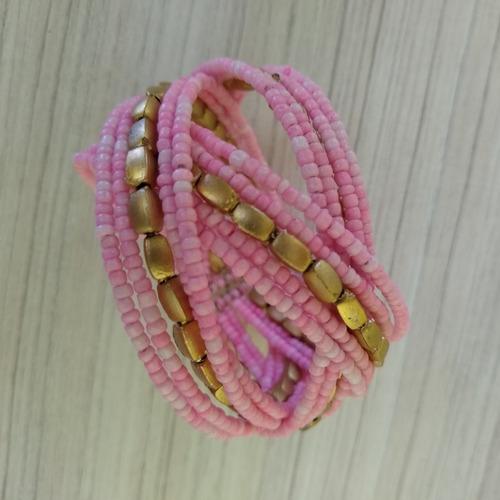 pulseira/bracelete de miçangas colorida ref: 9029