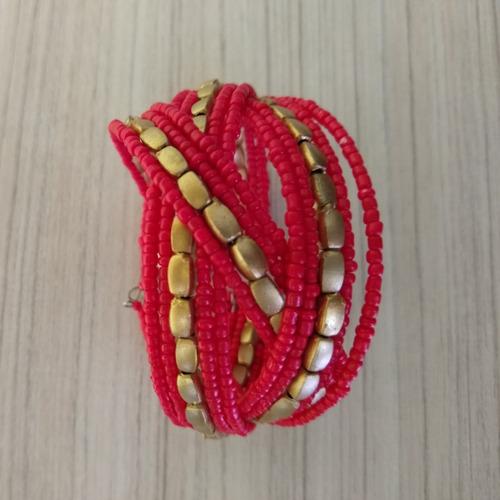 pulseira/bracelete de miçangas colorida ref: 9093