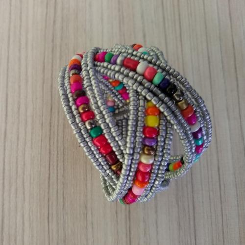 pulseira/bracelete de miçangas colorida ref: 9094