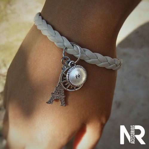 pulseiras artesanais em couro trançado