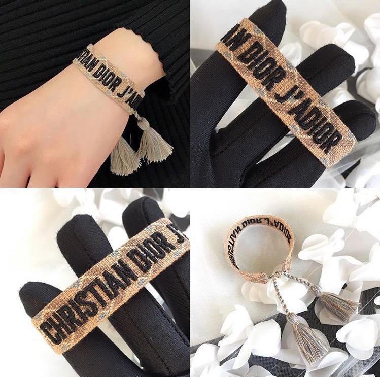 50a36a77149 Pulseiras Christian Dior J adior Entrelaçadas 100% Original - R  400 ...