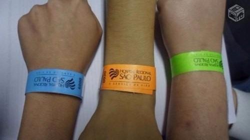 pulseiras de identificação para eventos em geral.