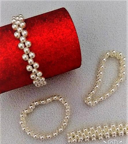 pulseiras de perola  - kit com 24 pulseiras
