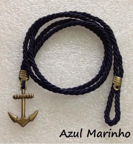 pulseiras masculina feminina ancora cordao cordinha couro