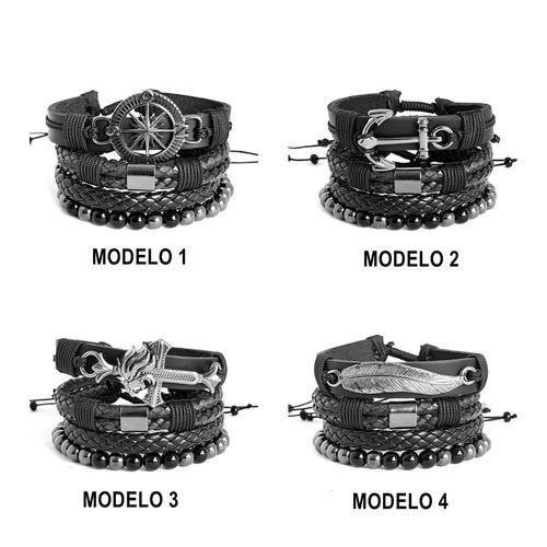 pulseiras masculinas couro