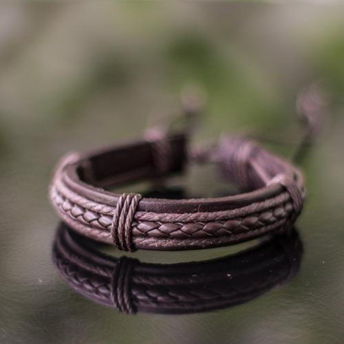 pulseiras masculinas couro bracelete