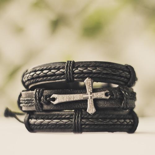 pulseiras masculinas couro braceletes