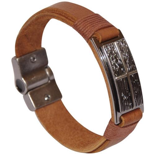 pulseiras masculinas em couro vários modelos promoção