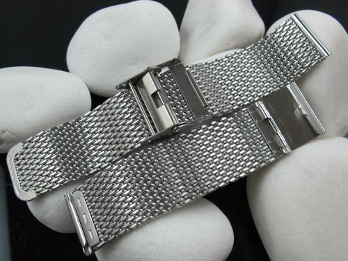 pulseiras mesh interlock superior fios 1,0 18 mm acetinada