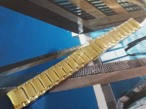 pulseiras original tommy hilfiger - 19mm - dourada